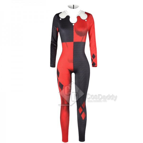 Suicide Squad Harley Quinn Jumpsuit Cosplay Costume