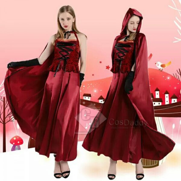 Women's Christmas Costume Little Red Riding Hood P...