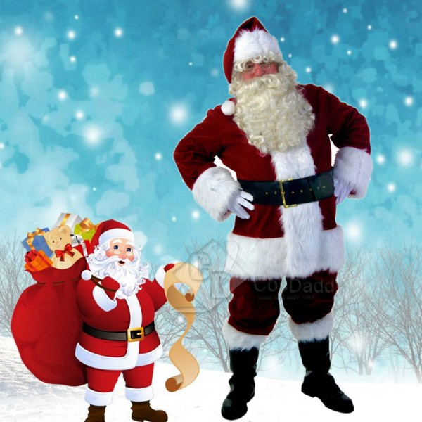 Men's Christmas Santa Claus Party Costume