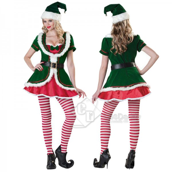 Adult Christmas Costume Women's Elf Party Costume
