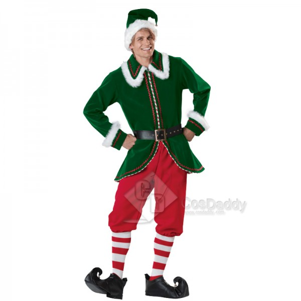 Adult Christmas Costume Men's Elf Party Costume