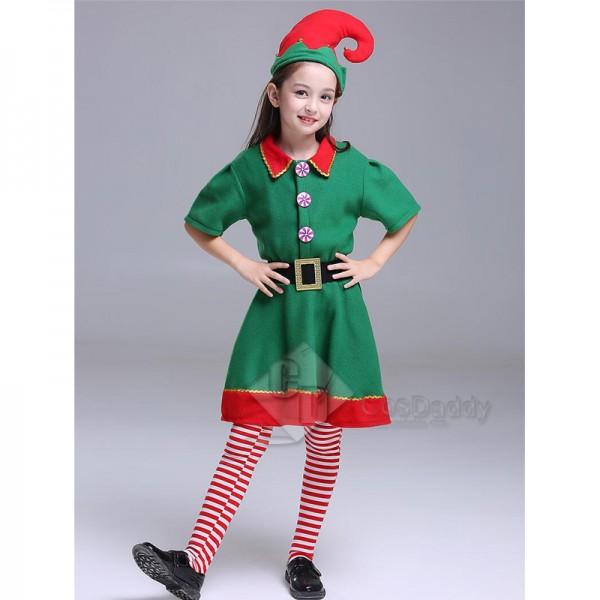 Toddler Holiday Christmas Elf Performance Costume