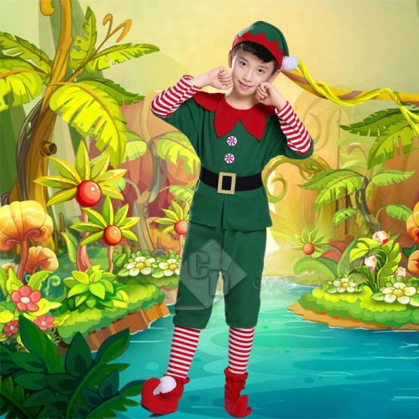 Toddler Holiday Christmas Fancy Elf Performance Co...