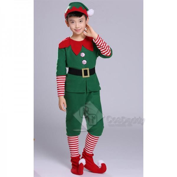 Toddler Holiday Christmas Fancy Elf Performance Costume