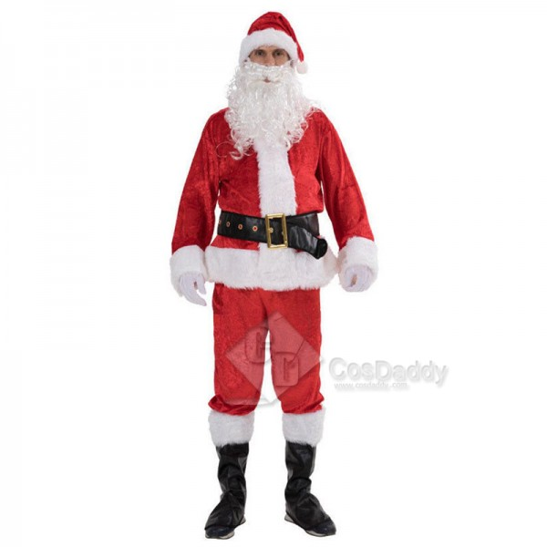 Christmas Santa Claus  Adult Men Suits Costume