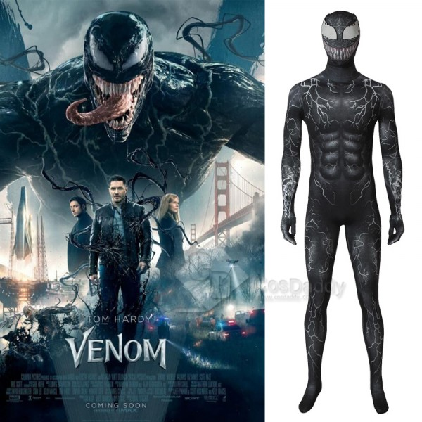 Venom Symbiote Jumpsuit Spider-Man Cosplay Costume