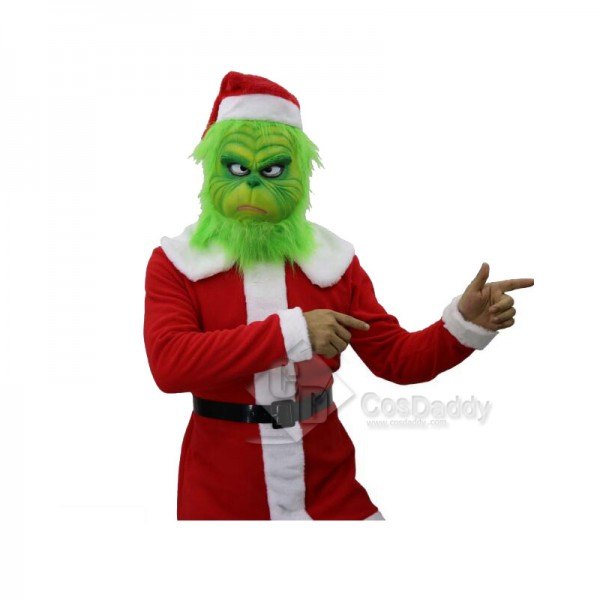 How the Grinch Stole Christmas The Grinch Mask Helmet Costume Props