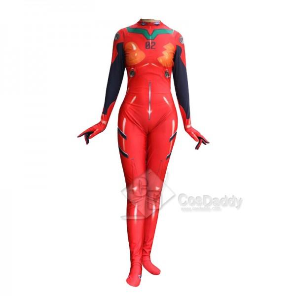 EVA Neon Genesis Evangelion Asuka Langley Jumpsuit Cosplay Costume