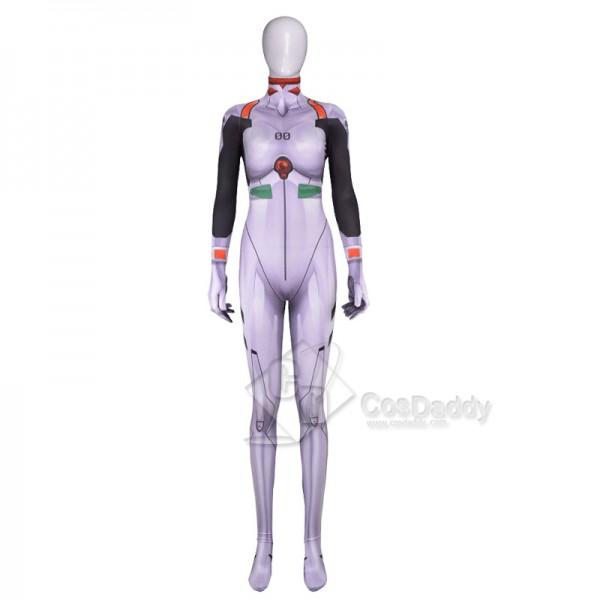 EVA Neon Genesis Evangelion Ayanami Rei Zentai Jumpsuit Cosplay Costume