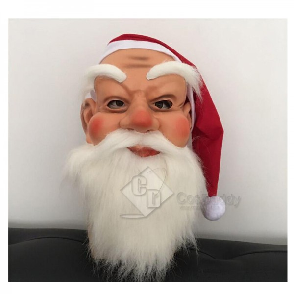 Santa Claus Kids Christmas Face Masquerade Costume...