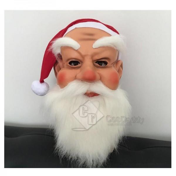 Santa Claus Kids Christmas Face Masquerade Costume Fancy Full Face Mask
