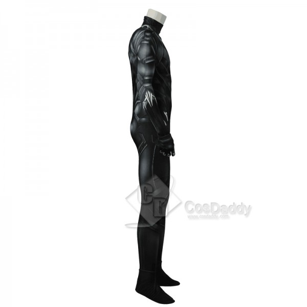Captain America 3 Civil War Black Panther King T'Challa Tights Jumpsuit Cosplay Costume