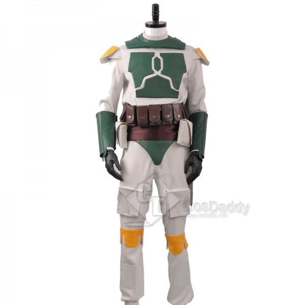 Star Wars Boba Fett Superhero Fighter Suit Cosplay Costume