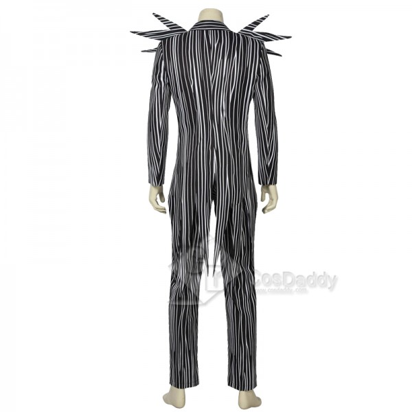 The Nightmare Before Christmas Skull Jack Skellington Stripe Suit Cosplay Costume