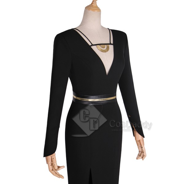Solo A Star Wars Story Qi'Ra Black Dress Cosplay Costume
