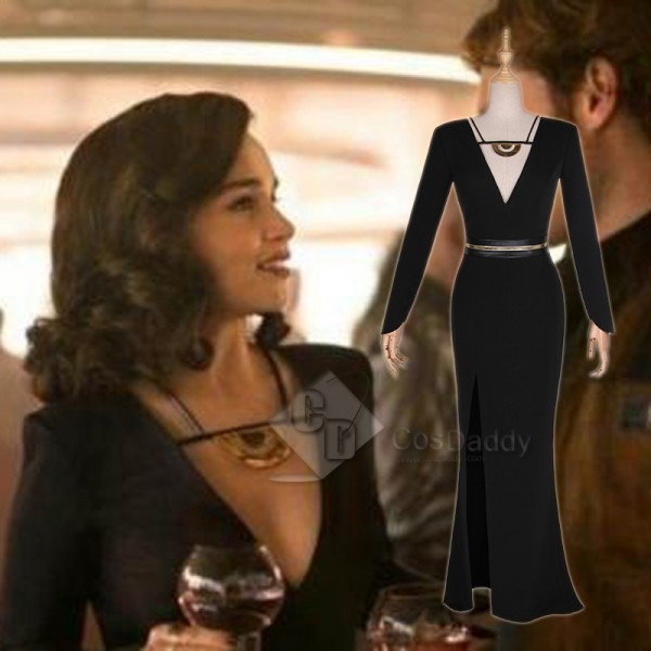 Solo A Star Wars Story Qi'Ra Black Dress Cosplay C...