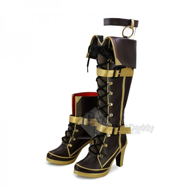 Azur Lane Jean Bart Shoes Boots Cosplay Props