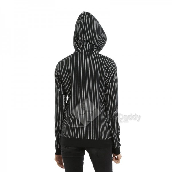 The Nightmare Before Christmas Jack Skellington Reversible Coat 3D Zipper Hoodie