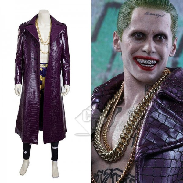 Suicide Squad The Joker Purple Long Coat Shorts Co...