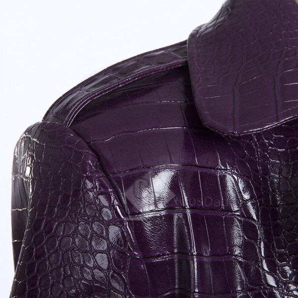 Suicide Squad The Joker Purple Long Coat Shorts Cosplay Costume