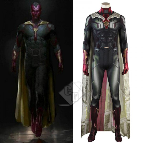 Avengers: Infinity War Superhero Vision Cosplay Co...