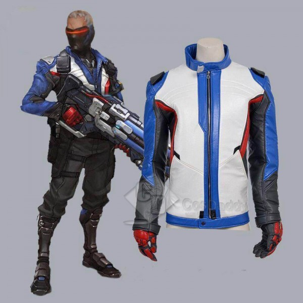 Overwatch OW Soldier 76 Coat Cosplay Costume
