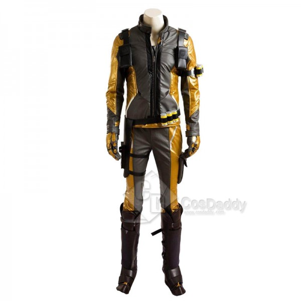 Overwatch OW Soldier 76 Cosplay Costume Gold Version