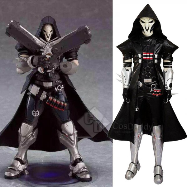 Overwatch Reaper Gabriel Reyes Cosplay Black Battl...