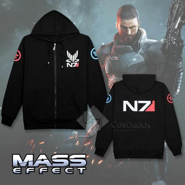 Mass Effect 3 John·Shepard N7 Thick Zipper Hoodie...