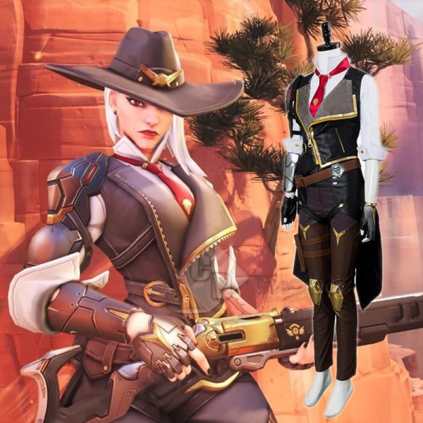 Overwatch OW New Hero Ashe Cosplay Costume