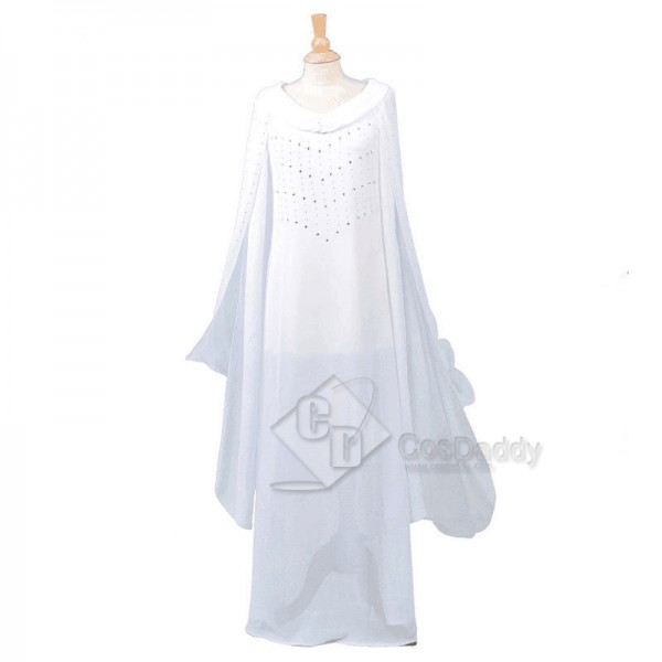 The Hobbit Galadriel White Long Dress Cosplay Costume