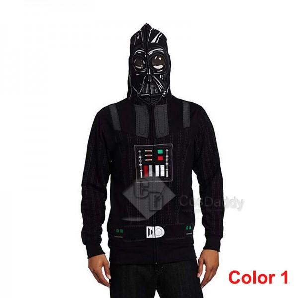 Star Wars Darth Vader And Clone Troopers Mask Zipper Hoodie Sweatshirt Cosplay Costume