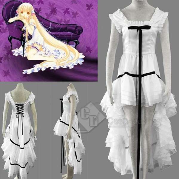 Chobits Chi Chii Black and White Dress Cosplay Costume