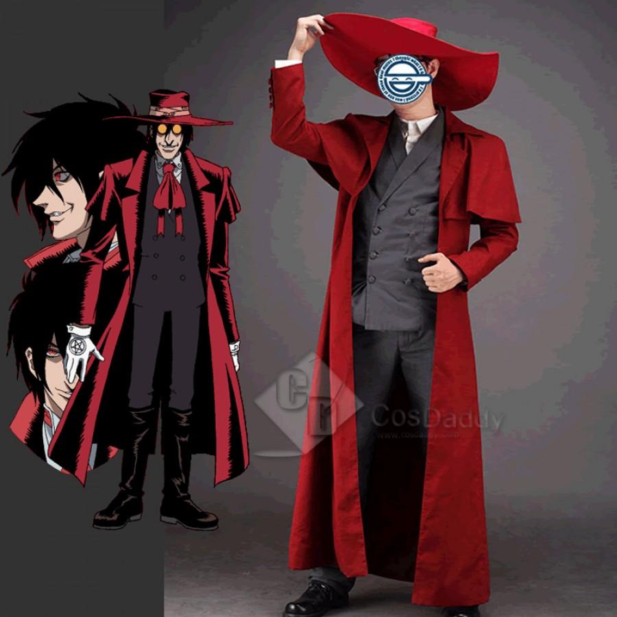Hellsing Alucard Cosplay Costume Set Vampire Hunter Cosplay