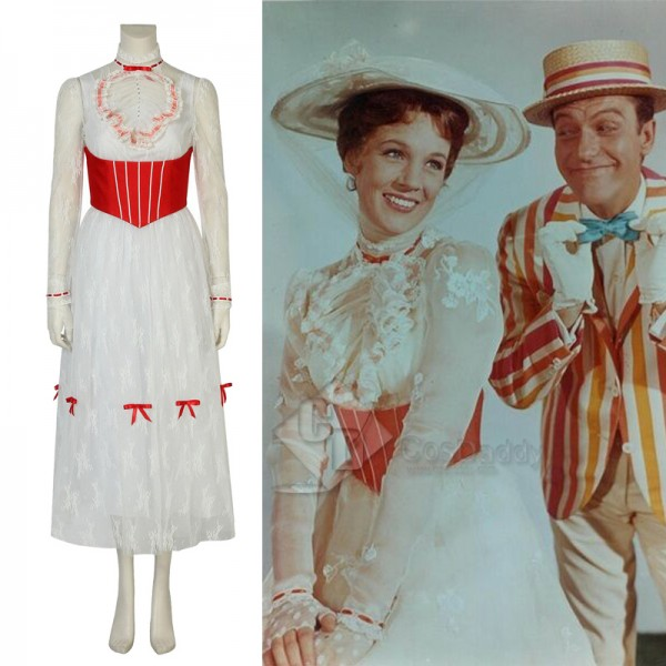 Mary Poppins Mary Jolly Dress Cosplay Costume