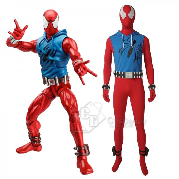 Spiderman Scarlet Spider Ben Reily Cosplay Costume