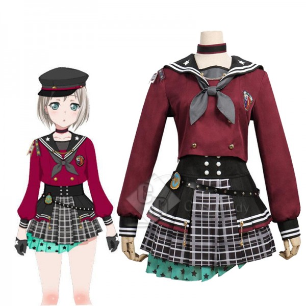 BanG Dream Afterglow Lost One Aoba Moca Dress Cosplay Costume