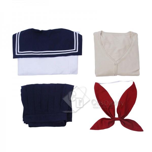 My Hero Academia Himiko Toga Shool Sweater Cardigan Uniform JK Cosplay Costume