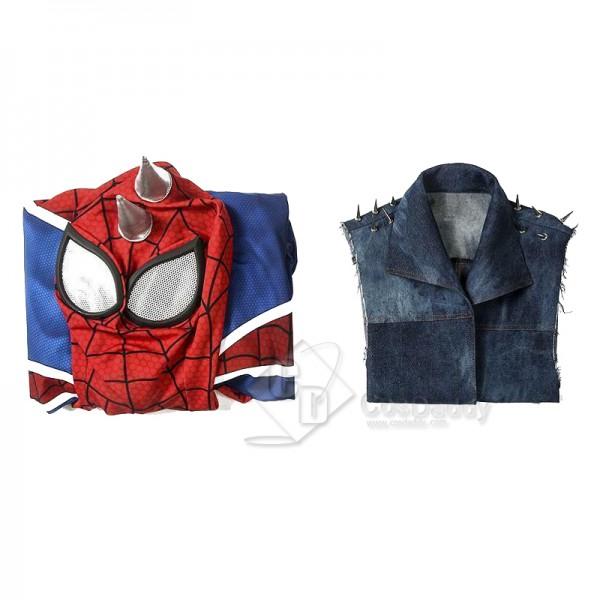Marvel's Spider-Man Spider-Punk Spiderman Punk Rock Cosplay Costume