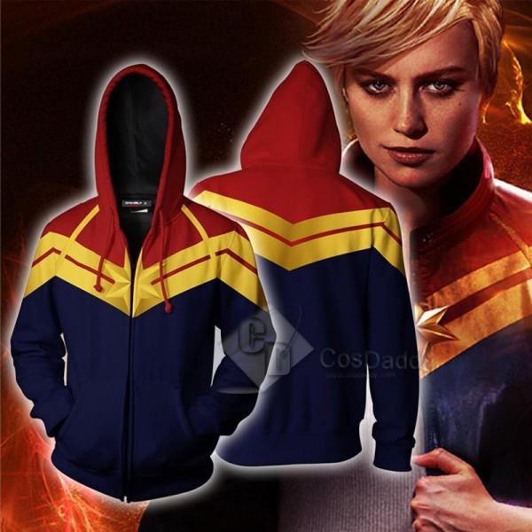 2019 Captain Marvel Carol Danvers 3D Printed Hoodi...