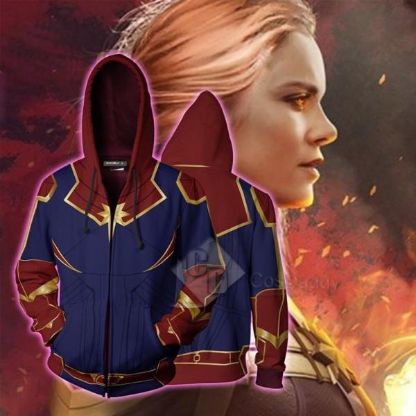2019 Captain Marvel Carol Danvers 3D Printed Hoodie