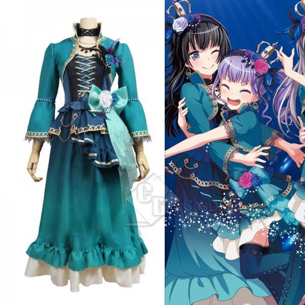 BanG Dream ! Roselia Shirokane Rinko Cosplay Costu...