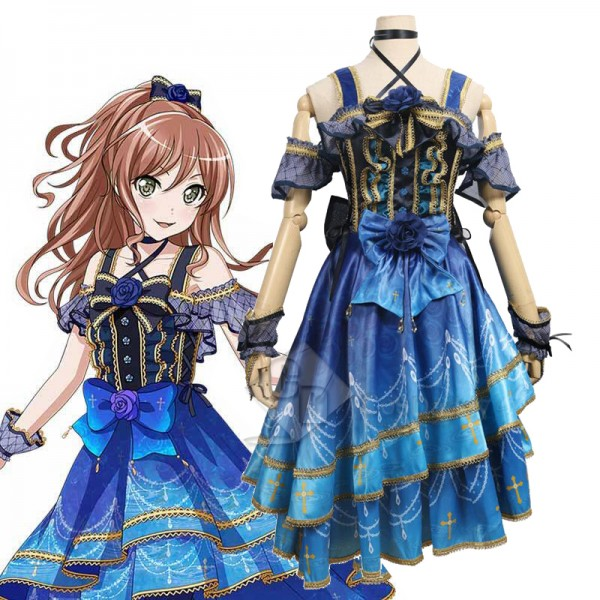 BanG Dream Roselia 4th Single Lisa Imai Dress Cosp...
