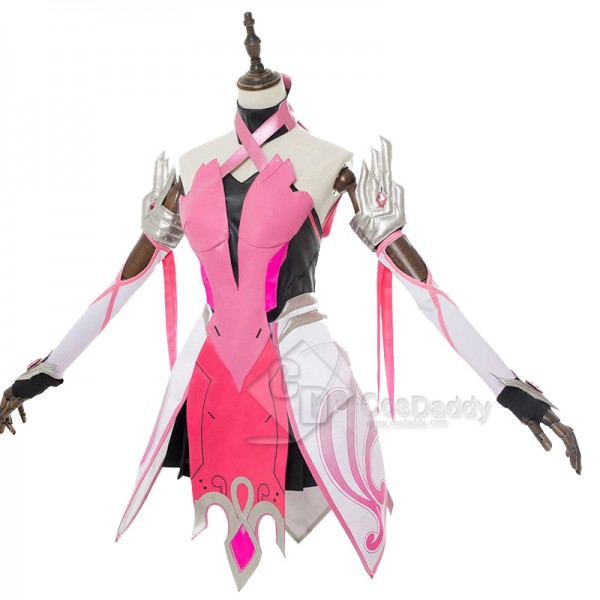 Overwatch OW Pink Mercy Angela Cosplay Costume