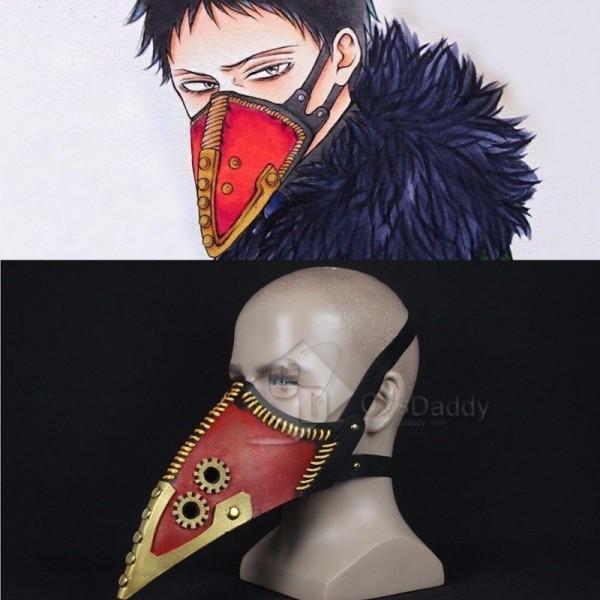 My Hero Academia Overhaul Mask Crow Mouth Plague Doctor Cosplay Props