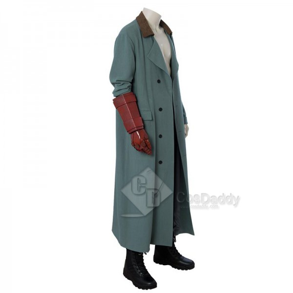 Hellboy: Rise of the Blood Queen Hellboy Anung Un Rama Trench Coat Cosplay Costume