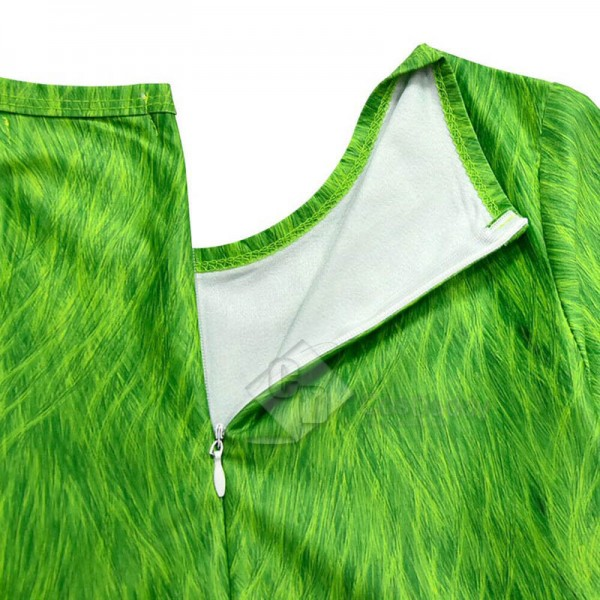 The Grinch Cosplay Costume Kids Jumpsuit Halloween Christmas Costume