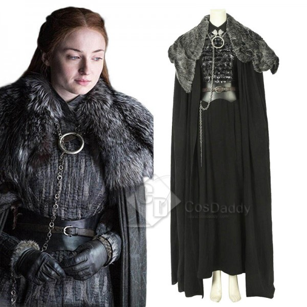 Game of thrones Season 8 Sansa Stark Cosplay Costu...