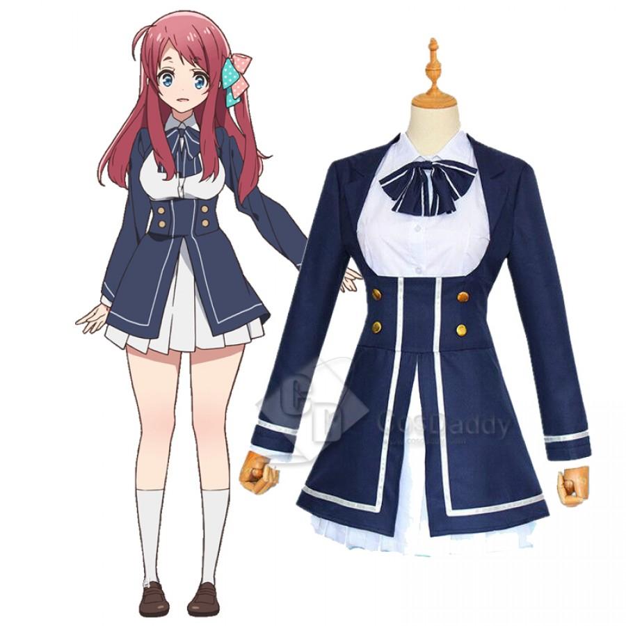 Zombieland Saga Sakura Konno Junko Cosplay Costume Women Uniform Dress Track
