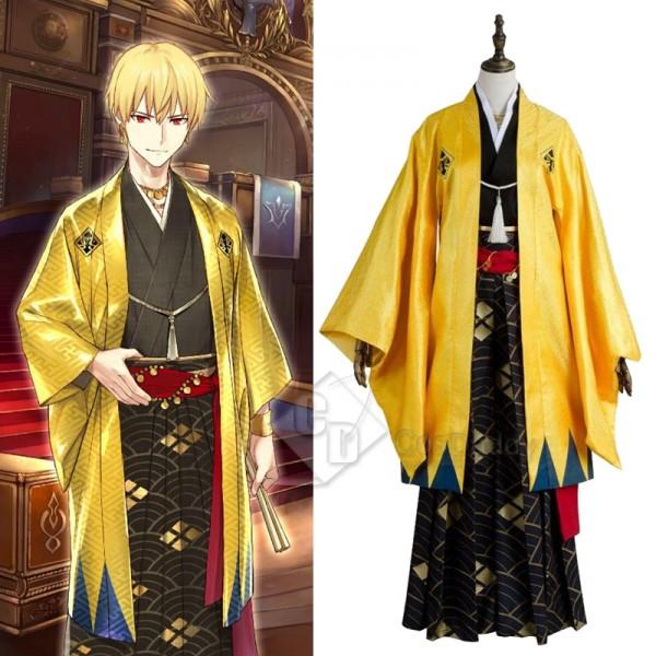 Fate Grand Order FGO Gilgamesh Kimono Cosplay Cost...